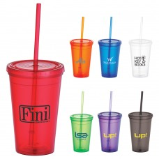 Tumbler with Straw | 16 oz