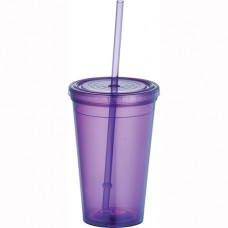 Purple Tumblers with Straw | 16 oz