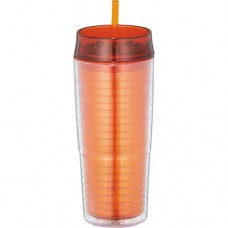 Orange Xander Tumblers With Straw | 20 oz