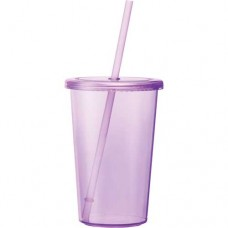 Purple Sizzle Tumblers With Straw | 16 oz