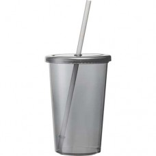 Black Sizzle Tumblers With Straw | 16 oz