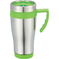 Lime Green Seaside Travel Mugs | 15 oz