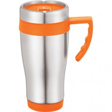 Orange Seaside Travel Mugs | 15 oz