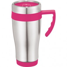 Pink Seaside Travel Mugs | 15 oz