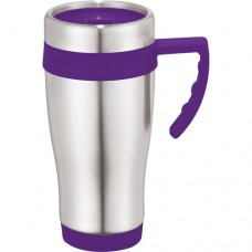 Purple Seaside Travel Mugs | 15 oz