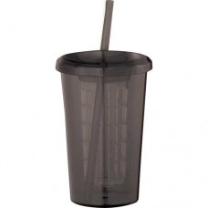 Black Tutti Frutti Tumblers With Straw | 20 oz - Smoke