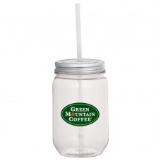Mason Jar With Silver Tin Lid | 22 oz