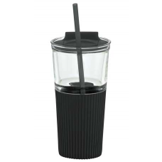 Black 18 oz Chi Glass Tumblers