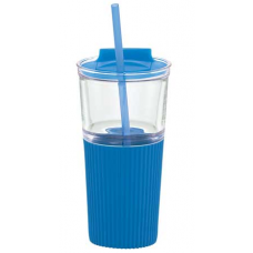Blue 18 oz Chi Glass Tumblers