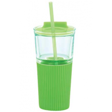 Green 18 oz Chi Glass Tumblers