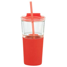 Red 18 oz Chi Glass Tumblers