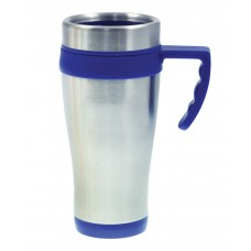 Silver with Blue Liner Coronado Mugs | 16 oz