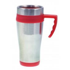 Silver with Red Liner Coronado Mugs | 16 oz