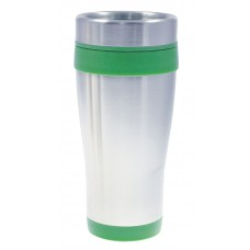 Green Coronado Tumblers | 16 oz - Silver with Green Liner