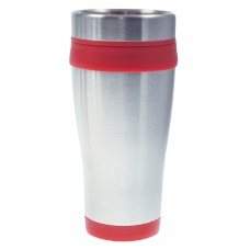 Red Coronado Tumblers | 16 oz - Silver with Red Liner