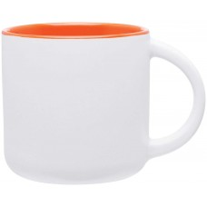 Orange Minolo Mugs - Matte White | 14 oz