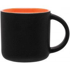 Orange Minolo Mugs - Matte Black | 14 oz