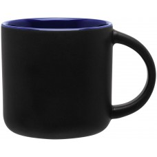 Cobalt Blue Minolo Mugs - Matte Black | 14 oz