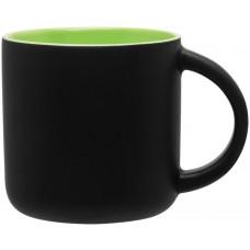 Matte Black | 14 oz - Lime Green Minolo Mugs