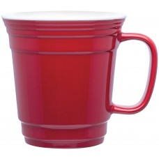 Red Single Wall Ceramic Mugs | 12 oz