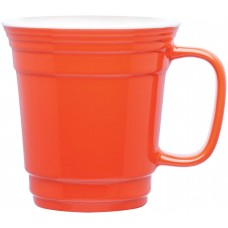 Orange Single Wall Ceramic Mugs | 12 oz