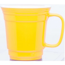 Yellow Single Wall Ceramic Mugs | 12 oz