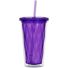 Purple H2Go Spirit Optic Acrylic Tumblers | 16 oz