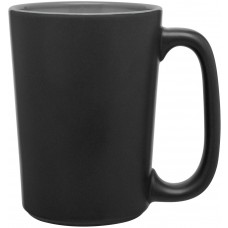 Matte Black Storm Gray Rocca Ceramic Mugs - 15 oz