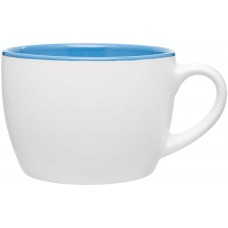 Sky Blue Bolzano Ceramic Mugs - Matte White | 18 oz