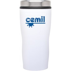 White Double Wall Stainless Steel Stealth Tumblers | 16 oz