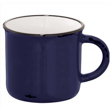 Navy Blue 17 oz Enamel Ceramic Mugs