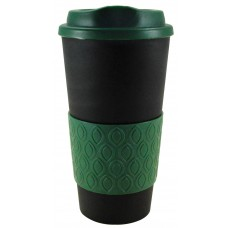 Black with Hunter Green Grip N Go Bold | 16 oz