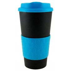 Black with Neon Blue Grip N Go Bold | 16 oz