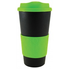Black with Neon Green Grip N Go Bold | 16 oz