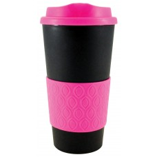 Black with Neon Pink Grip N Go Bold | 16 oz
