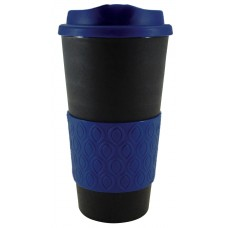 Black with Reflex Blue Grip N Go Bold | 16 oz