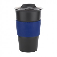 Black with Blue Gripper Java | 12 oz
