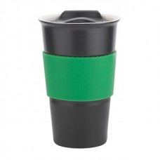 Black with Green Gripper Java | 12 oz