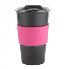 Black with Pink Gripper Java | 12 oz