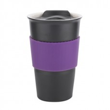 Black with Purple Gripper Java | 12 oz