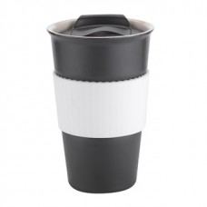 Black with White Gripper Java | 12 oz