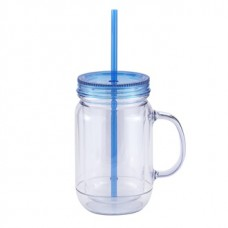 Clear with Blue Lid Mason Master | 20 oz