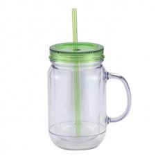 Green Mason Master | 20 oz - Clear with Green Lid