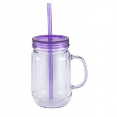 Purple Mason Master | 20 oz - Clear with Purple Lid