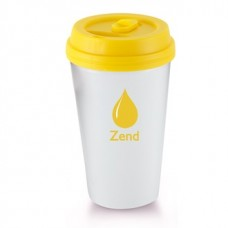 Yellow I`m A Paper Cup - Not! | 16 oz - White with Yellow Lid