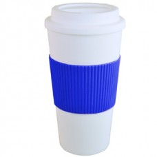 White with Blue Grip Brazilian | 16 oz -