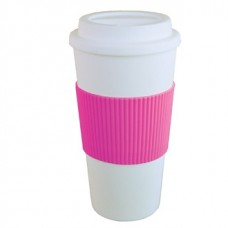 Pink Brazilian | 16 oz - White with Hot Pink Grip