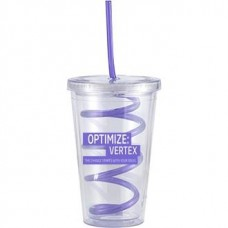 Purple Slurpy With Crazy Straw | 16 oz - Clear with Purple Crazy Straw