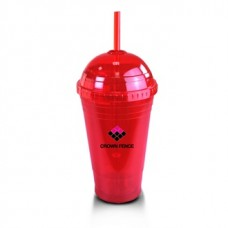Red Slurpy With Dome Lid | 16 oz
