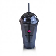 Black Slurpy With Dome Lid | 16 oz - Smoke